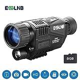ESSLNB Nachtsichtgerät Jagd Militär 5X Vergrößerung mit 8GB TF Karte Infrarot Kamera und Stativanschlussgewinde Wiedergabe Foto und Videoaufnahmefunktion bei Tag und Nacht