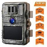 Campark Wildkamera mit bewegungsmelder nachtsicht 14MP 1080P 2.4' LCD Wasserdicht IP66 Jagdkamera Wildtierkamera für Überwachung