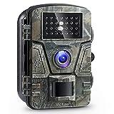 Victure Wildkamera Fotofalle 1080P Full HD 12MP Jagd Wildkamera Weitwinkel Vision Infrarote 20m Nachtsicht Wasserdichte IP66 Überwachungskamera mit 2.4'LCD Display für Garten,Überwachung von Eigentum