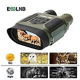 ESSLNB Nachtsichtgerät Jagd Militär Digital Infrarot Fernglas mit Nachtsicht mit 8GB Karte und 8 AA Batterien 7X Vergrößerung 4' LCD Bildschirm 1300 ft/400m Reichweite